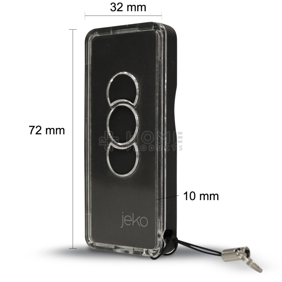 JEKO universal remote control (replacement remote), dark also for Aprimatic TM